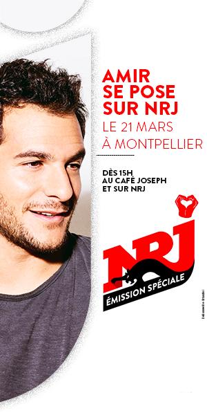 Banner Amir au café Jo avec NRJ 03-19